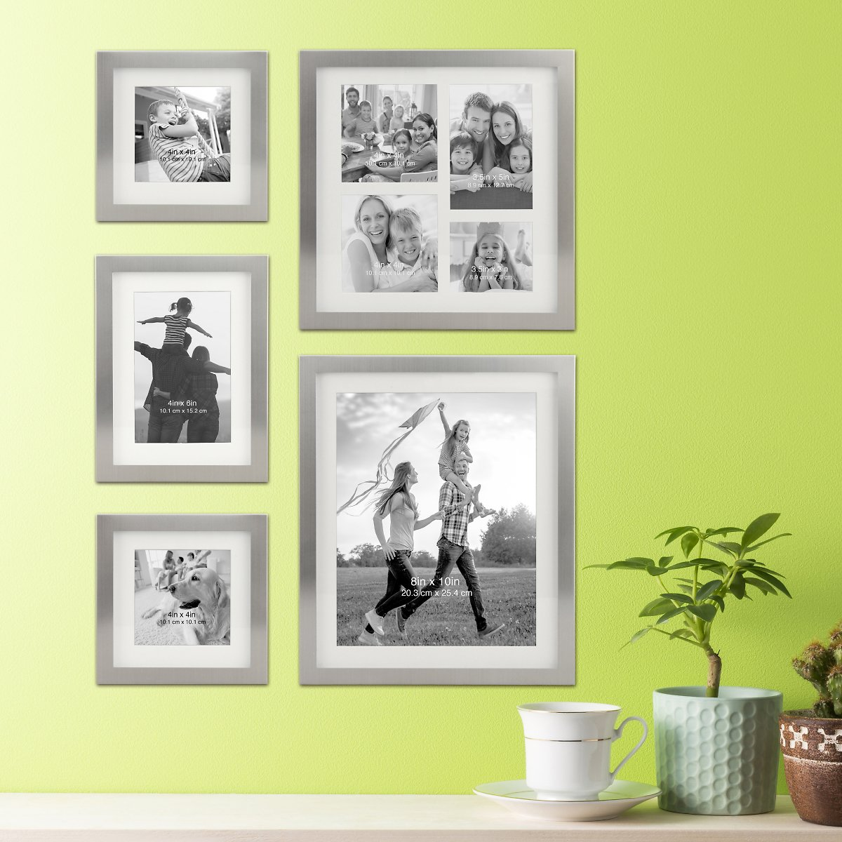 Better Homes & Gardens Set of 5: Metal Wall Gallery Photo Frames