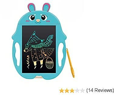 QISHI YUHUA LCD Writing Tablet 9 Inch,Colorful Doodle Board Drawing Board, Birthday Present for 2-6 Years Old Girl, for Little Kids - Blue Rabbit
