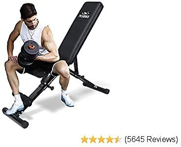 FLYBIRD Best Weight Bench, Adjustabfitnessle Strength Training Bench for Full Body Workout with Fast Folding- 2020 Version