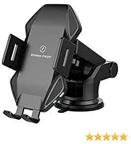 Flashda Wireless Car Charger T3, 15W Fast Qi Car Charger Mount with Suction Cup, Auto-Clamping Air Vent Holder Dashboard Car Stand for IPhone 11Pro/11/Max/XS/XR/X/8plus/8,Samsung/and More