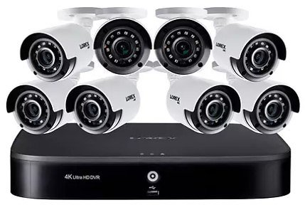 Lorex 16 Channel 4K DVR with 2TB HDD and 8 X 4K Cameras