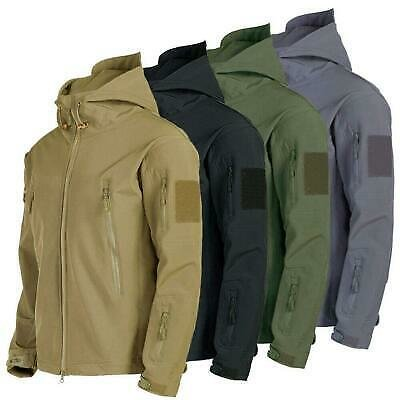 Mens Outdoor Jacket Tactical Coat Waterproof Winter Soft Shell Military Jackets