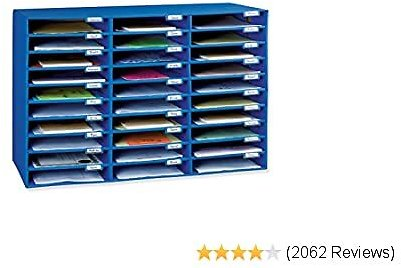 Classroom Keepers Mailbox, 30-Slot, Blue, 21