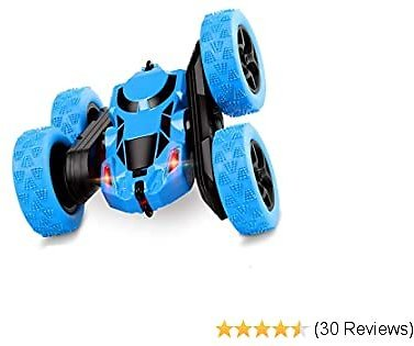 Remote Control Car, 2.4Ghz 4WD Double Sided 360° Flips RC Cars Stunt Car Toy ,Kids Toy Cars for Girls Boys Birthday Xmas(Blue)