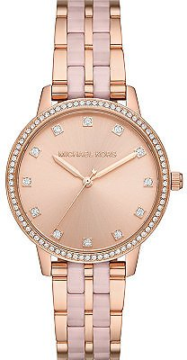 Michael Kors Women's Melissa Three-Hand Rose Gold-Tone Stainless Steel Bracelet Watch 36mm & Reviews - Watches - Jewelry & Watches