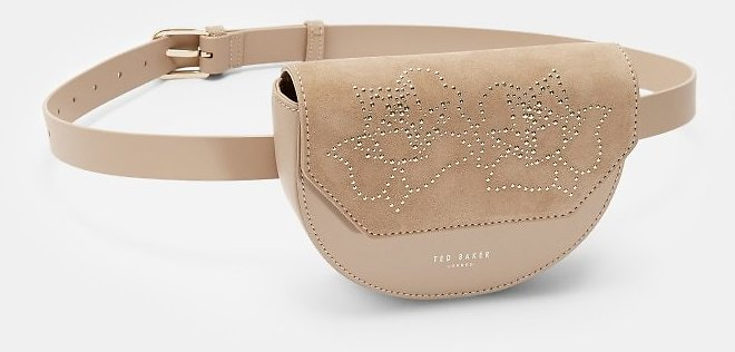 FAARAH Small Moon Leather Belt Bag