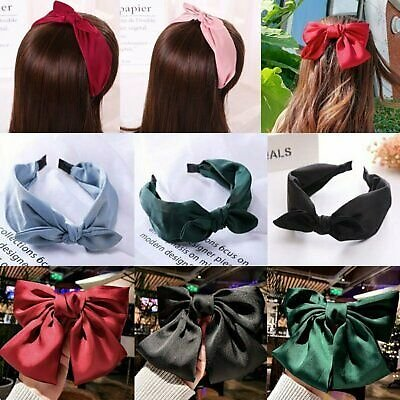 Fashion Large Bow Wide Headband Knot Alice Head Band Hair Accessories Women Gift