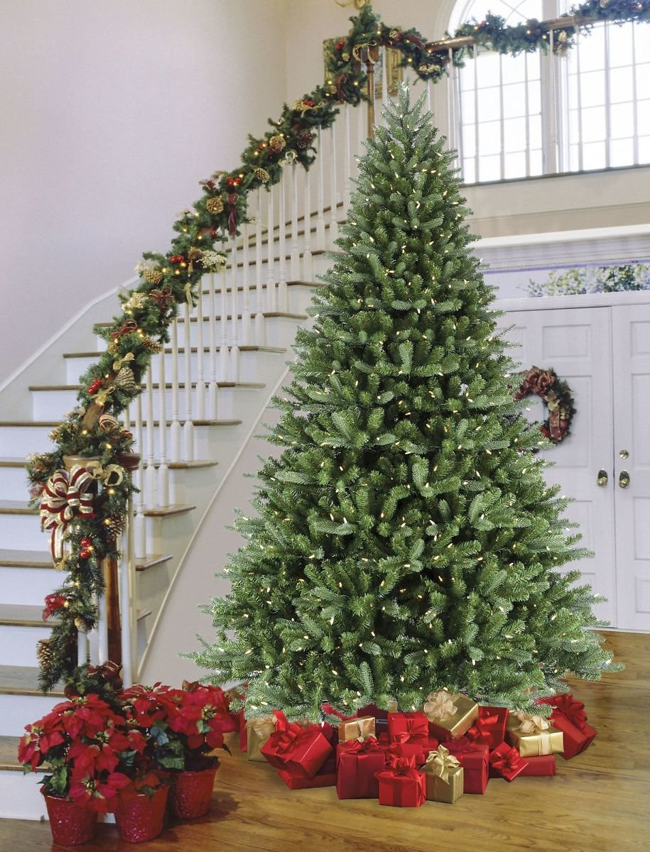 Sylvania 9' 8-Function Color Changing Prelit LED Tree with Foot Pedal