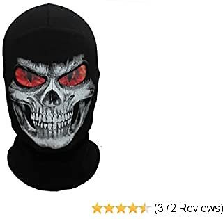 WTACTFUL Thick Scary Skeleton Skull Ghost Death Halloween Balaclava Face Mask for Cosplay Costume