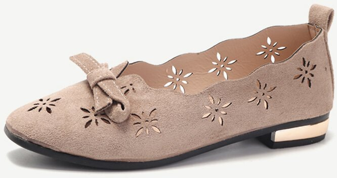 Hollow Low Cut Uppers Flat Shoes Soft Loafers For Women