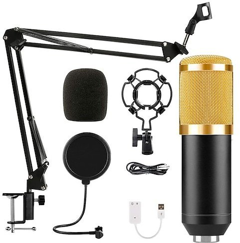 BM-800 Condenser Microphone Set Computer Recording Anchor Microphone Network K Singing Voice