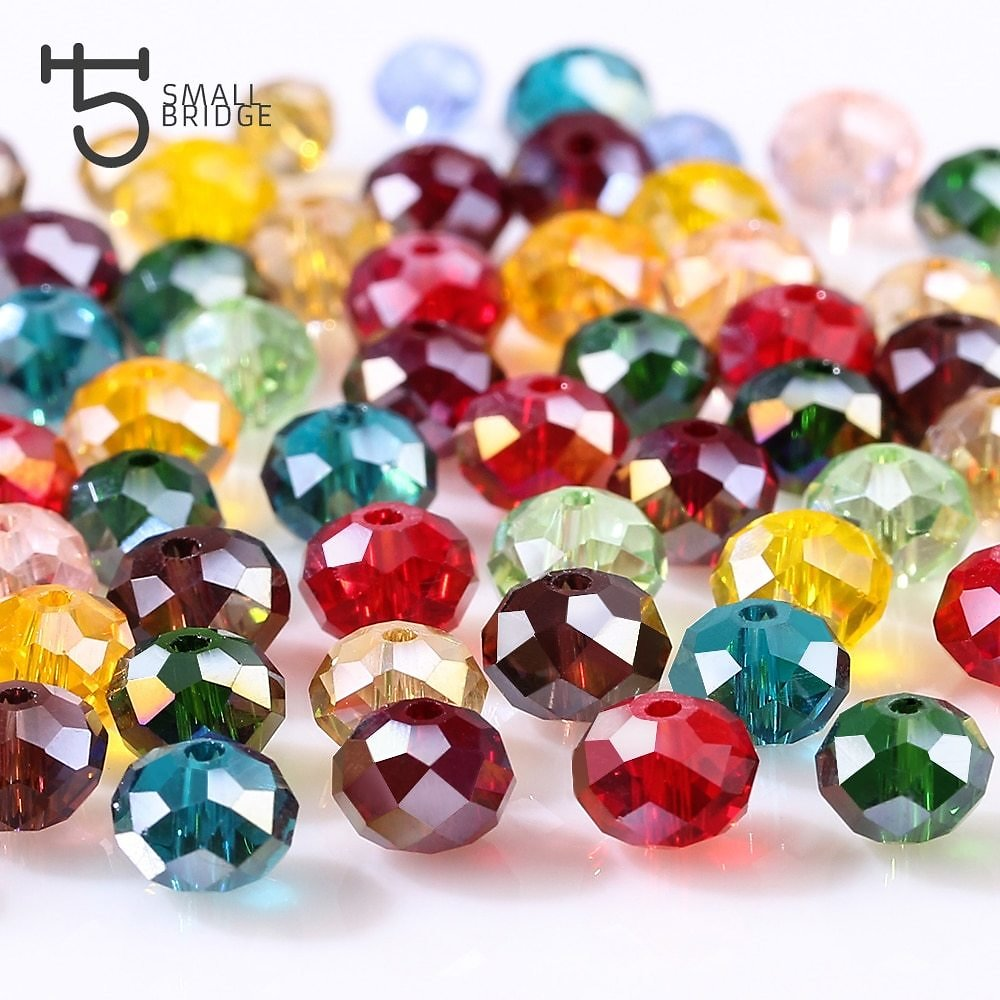 US $1.64 30% OFF|4 6 8mm Czech Loose Rondelle Crystal Beads For Jewelry Making Diy Needlework AB Color Spacer Faceted Glass Beads Wholesale Z179|glass Beads|glass Beads Wholesalecrystal Beads - AliExpress