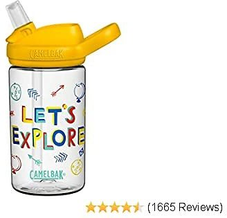 CamelBak Eddy+ Kids BPA-Free Water Bottle with Straw, 14oz - Color: Let's Explore