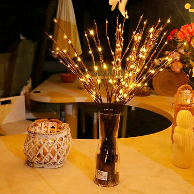 20LED Willow Branch Lamp Floral Lights 20Bulbs Home Christmas Party Garden Decor