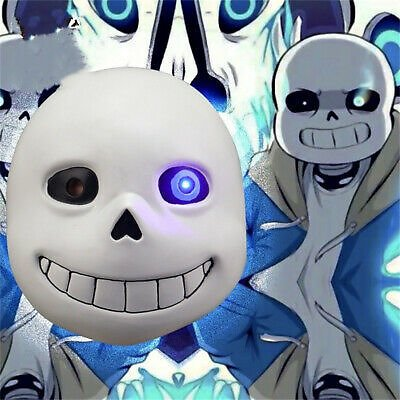 Undertale Full Face Mask Sans Papyrus Headgear Cosplay Props Halloween Party