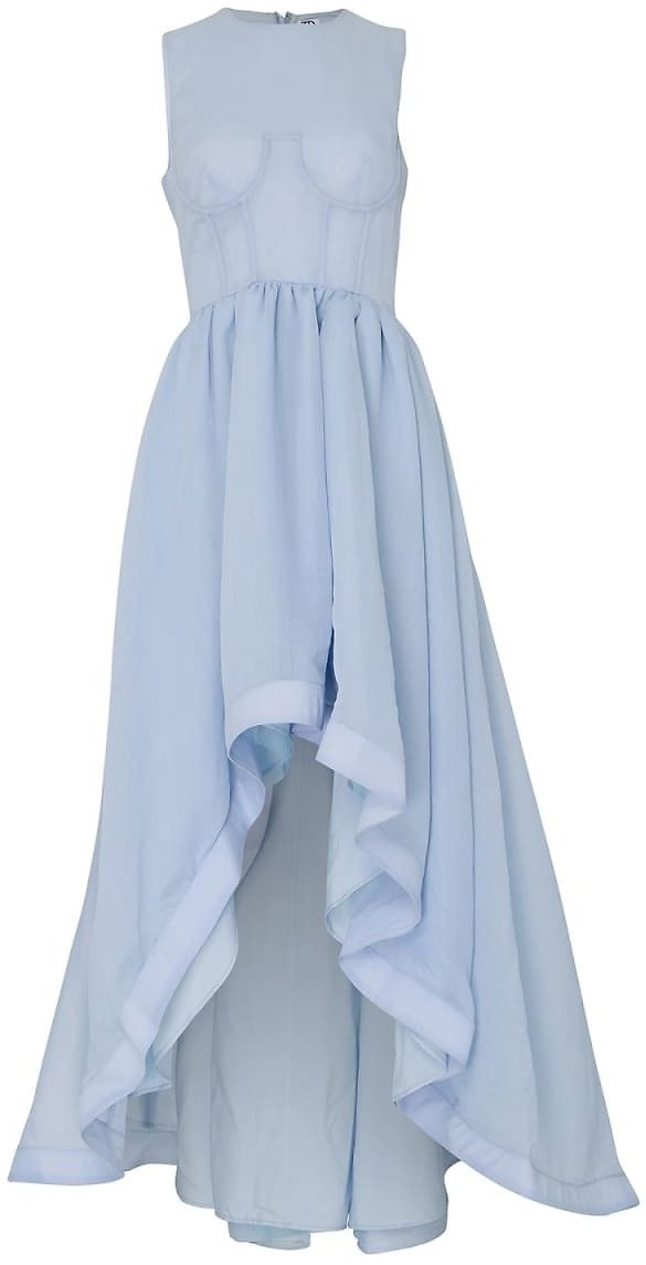Light Blue Full Skirt Asymmetric Gown
