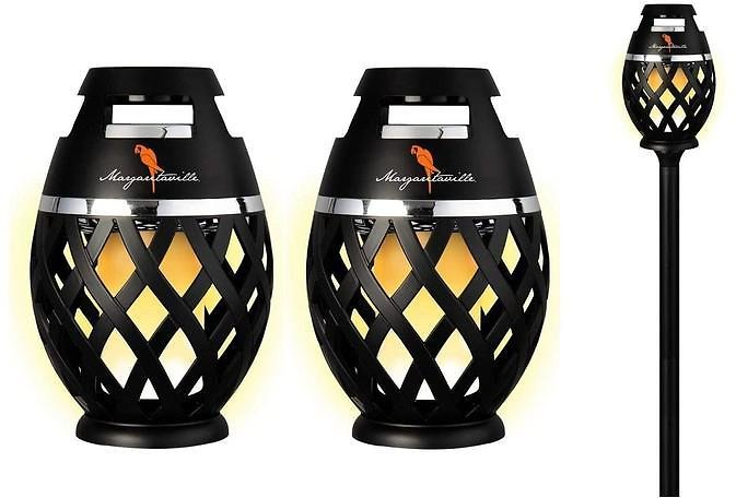 2-Pack: Margaritaville Bluetooth LED Flame Tiki-Torch Speaker With 3-Foot Pole