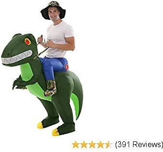 Inflatable Alien Dinosaur T-Rex Costume Halloween Blow Up Costumes Adult/Kids