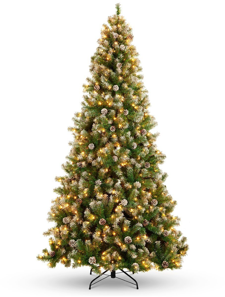 BCP Pre-Lit Pre-Decorated Christmas Tree w/Flocked Tips