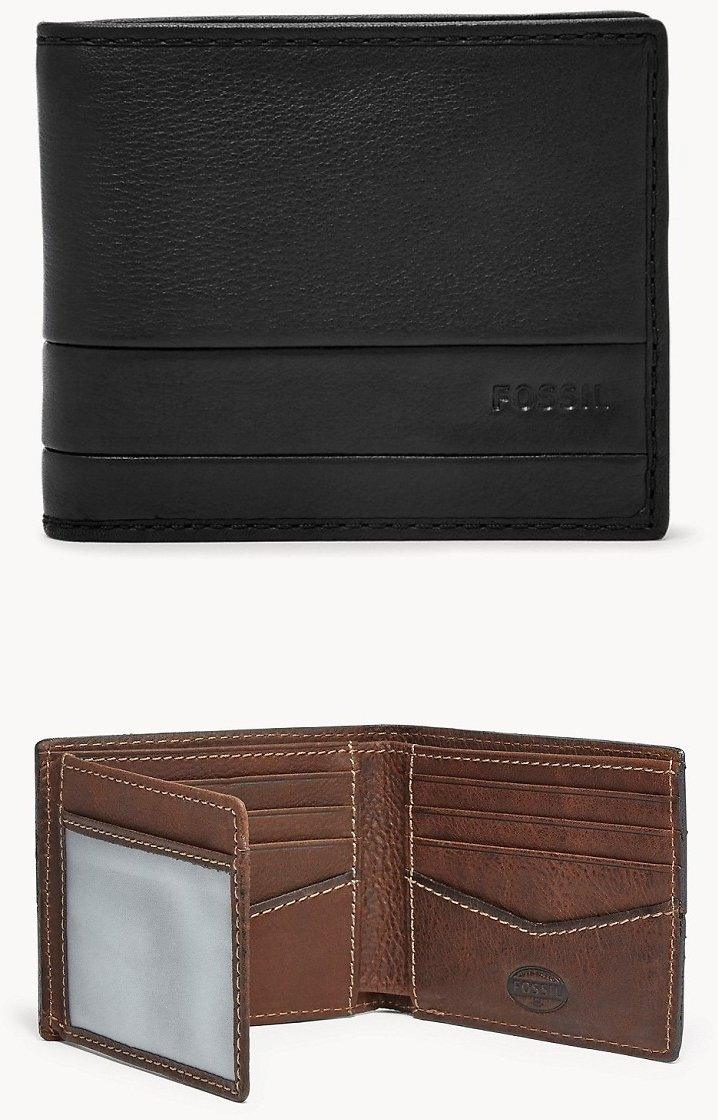 Fossil Men's Wallets Starting At $13.20 + Free Shipping
