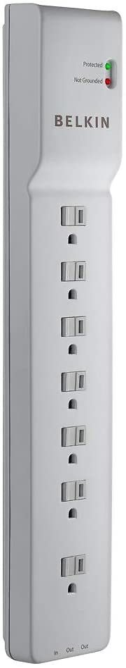 Belkin 7-Outlet Power Strip Surge Protector, 12ft Cord