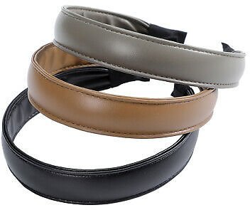 Women's Faux Leather Headband Plain Hairband Hair Band Hoop Accessories Party