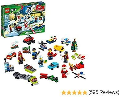 LEGO City Advent Calendar 60268 Playset, Includes 6 City Adventures TV Series Characters, Miniature Builds,