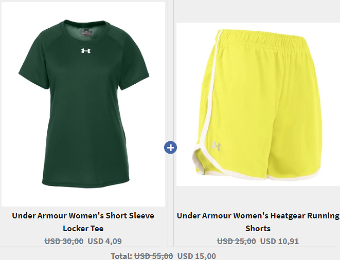 Under Armour Women's Short Sleeve Locker Tee & Under Armour Women's Heatgear Running Shorts Set! - Proozy