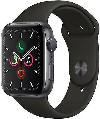 Apple Watch S5 5 (GPS+Cell) 44mm Space Gray, Aluminum Black Sport Band MWW12LL/A