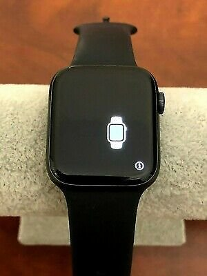 Apple Watch Series 5 44mm Space Gray Aluminum Case Black Sport Band