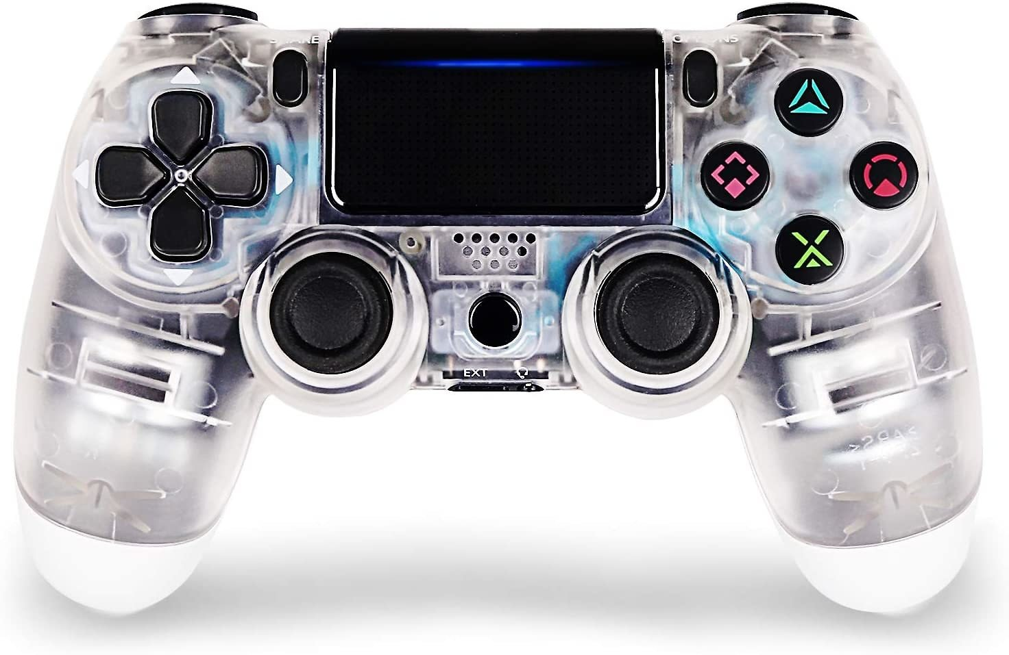 Game Controller for PS4,Wireless Controller for Playstation 4 with Dual Vibration Game Joystick (White)