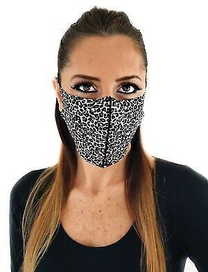 Leopard Print Face Mask, Double Layer, Made in USA! Washable, Reusable!