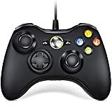RegeMoudal 360 PC Game Wired Controller for Microsoft Xbox 360 and Windows PC (Windows 10/8.1/8/7) with Dual Vibration and Ergonomic Wired Game Controller (Black 1): Computers & Accessories
