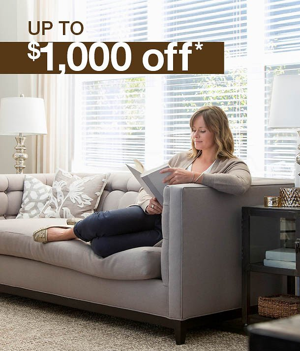 Up To $1,000 Off Indoor Furniture
