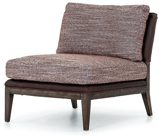 Dina Leather Chair, Sienna/Aubergine