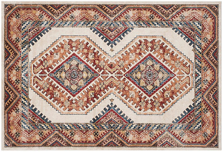 Cedar Rug, Ivory/Rust | One Kings Lane
