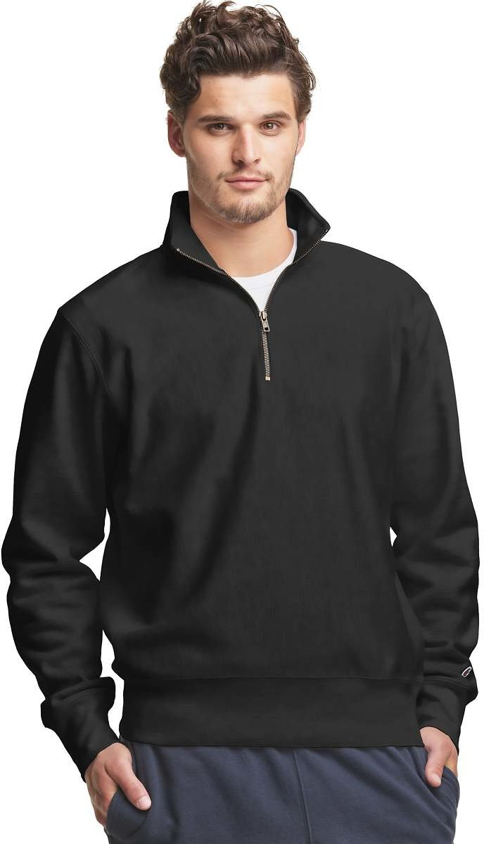 25% Off On Reverse Weave Zip Pullover !!