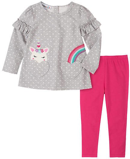 Kids Headquarters Girls 4-6x Unicorn Legging Set