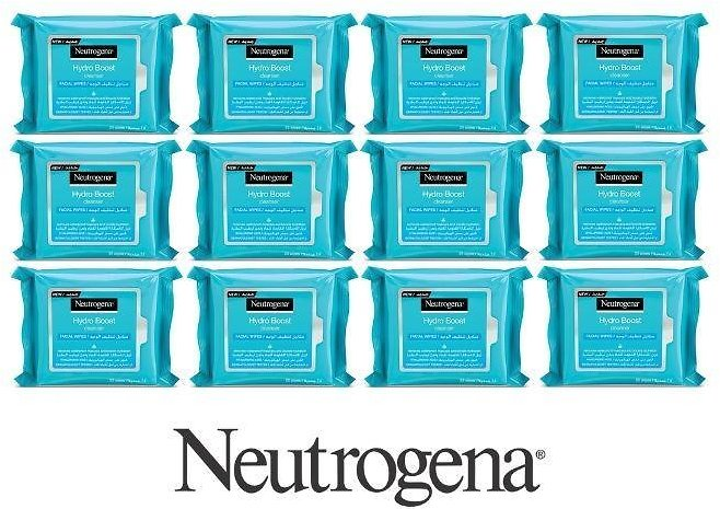 Neutrogena Hydro Boost Cleanser Facial Wipes (12-Pack)
