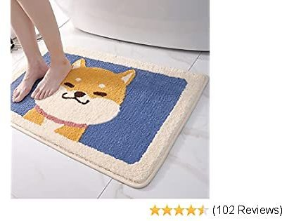 DEXI Bathroom Rug Mat, Non-Slip Extra Soft Bath Mat Water Absorbent Bath Rug, Carpets for Tub, Shower, and Bath Room, 16