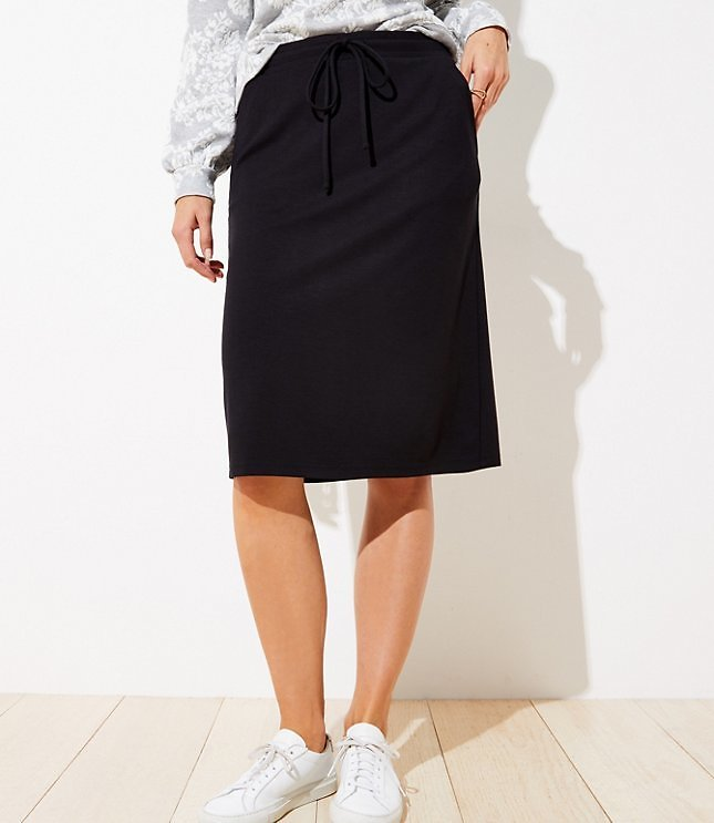 Petite Drawstring Pocket Pencil Skirt | LOFT