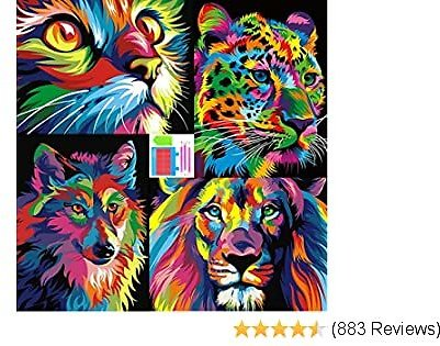 Only $12.59 ARTDOT 4 Pack 5D Diamond Painting Animal Kits for Adults Home Decor - 12x16 Inches