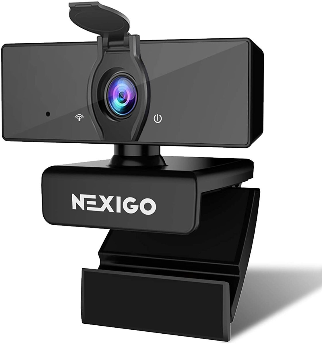 1080P Business Webcam with Dual Microphone & Privacy Cover, 2020 [Upgraded] NexiGo USB FHD Web Computer Camera, Plug and Play, for Zoom Skype MS Teams Online Teaching, Laptop MAC PC Desktop