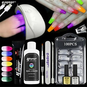 Details About 15ml Thermal Gel Poly Extension Gel Set UV Building Quick Nail Art Tips Kits