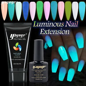 Details About Luminous Nails Gel Jelly Builder Extension Gel Nail Polish Soak Off UV Finger