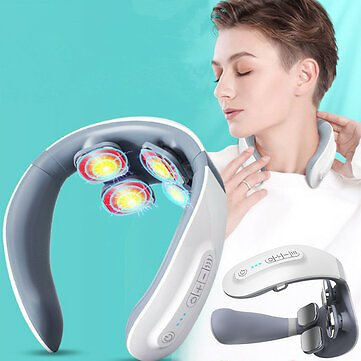 IPRee® Electric Smart Voice Control Neck Massager TENS Pulse Relieve Neck Pain 4 Head Vibrator Heating Cervical Massage With Wireless Remote ControlFitness & Body BuildingfromSports & Outdooron Banggood.com