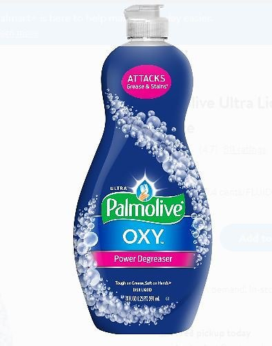 Palmolive Ultra Liquid Dish Soap, Oxy Power Degreaser - 20 Fluid Ounce