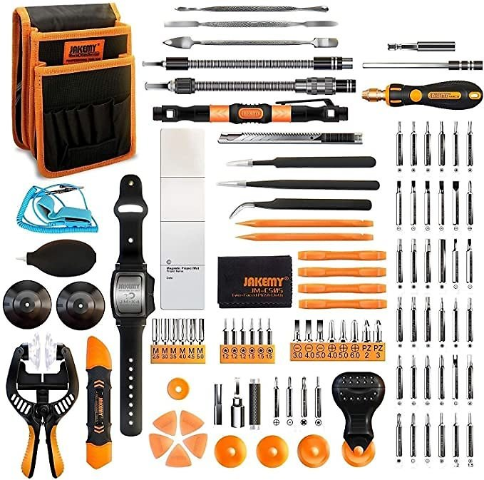 Jakemy Screwdriver Set, All in 1 with 50 Magnetic Precision Driver Bits, Repair Tool Kit with Pocket Tool Bag for IPhone, Comput