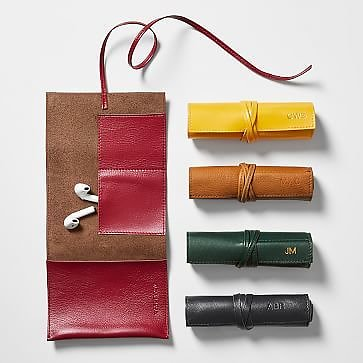 Leather Charger Roll Up ( 16 Colors)