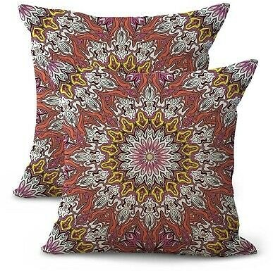 Set of 2 Hippie Boho-chic Cushion Cover Decorating Accessories Home